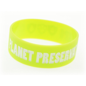 Broad Recycled Silicone Wrist Band